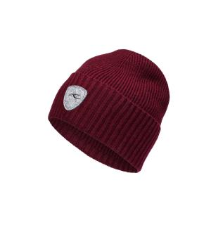 Men Wool Beanie.E.currant red mel