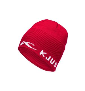 Unisex Rib Beanie.E.currant red